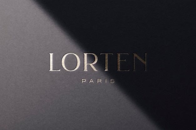 Мокап логотипа luxury paper gold