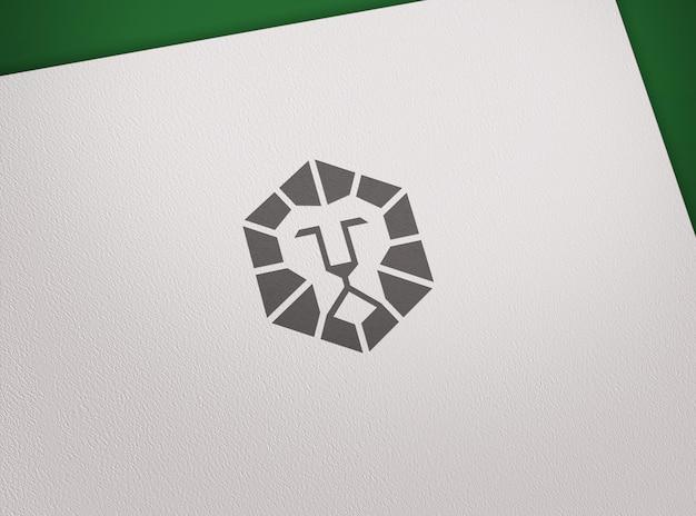 Логотип макет роскошный штамп на бумаге