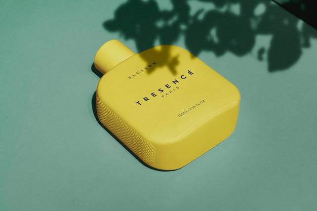 Logo mockup minimal fragrance parfum