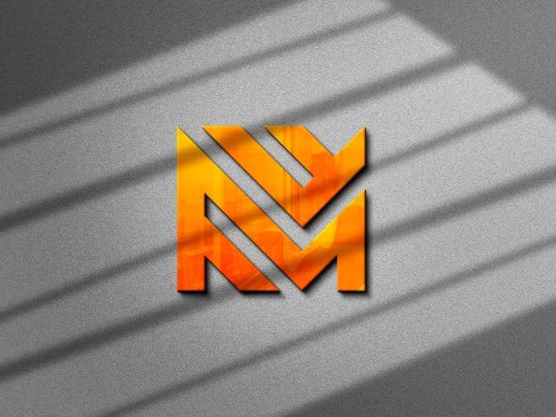 Макет логотипа на бетонной стене текстуры