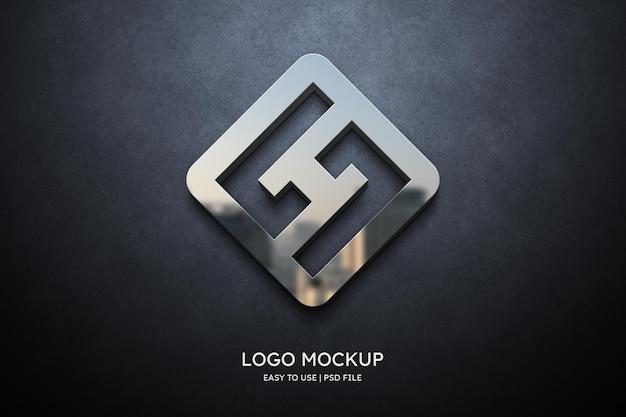 Макет логотипа на серой стене