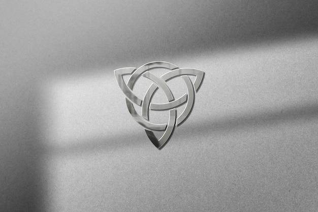 Макет логотипа на бумаге с тенью