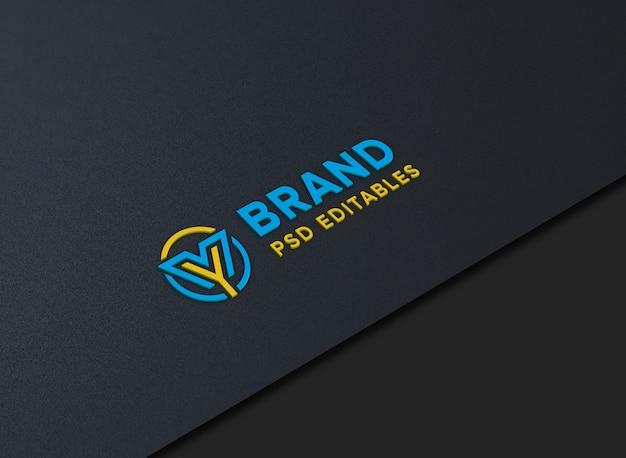 Макет логотипа на бумаге