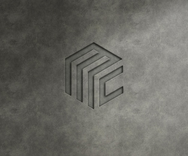 Макет логотипа на фактурной стене