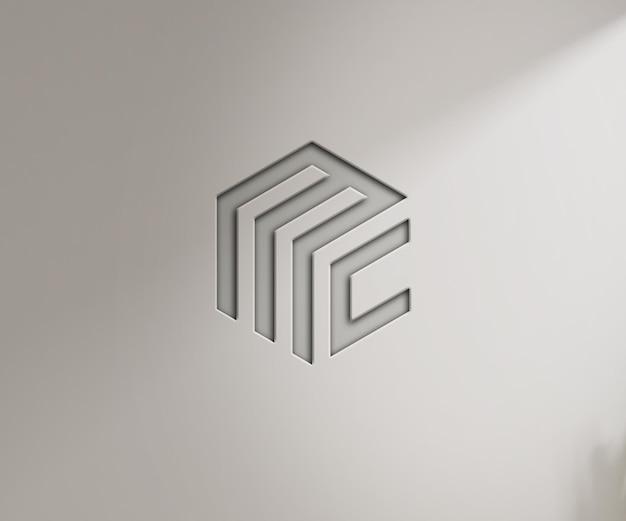 Макет логотипа на стене