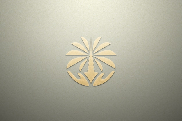 Logo mockup paper gold luxury texture