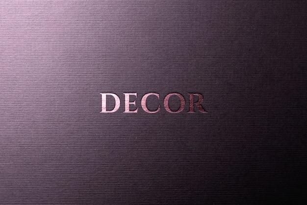 Бумага для макета с логотипом из розового золота
