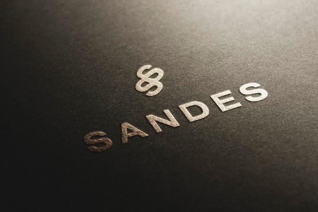 Логотип mockup perspective luxury paper gold
