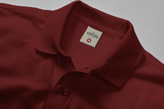 Logo mockup polo shirt neck label