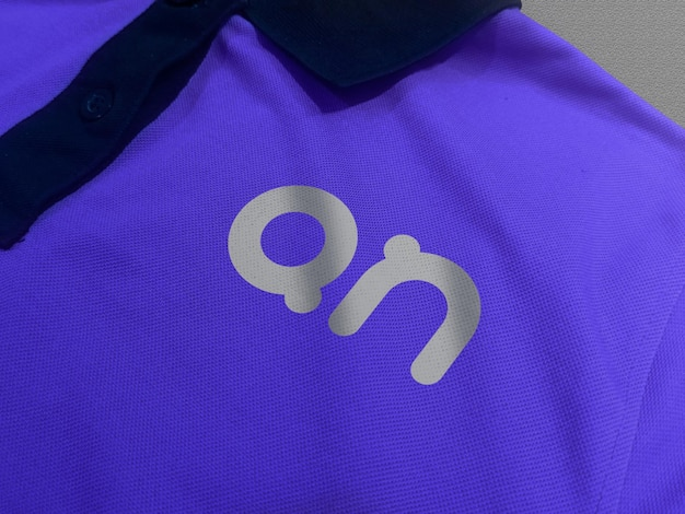 Logo mockup on polo t-shirt front view