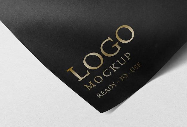 Logo mockup psd on corporate identity branding letterhead