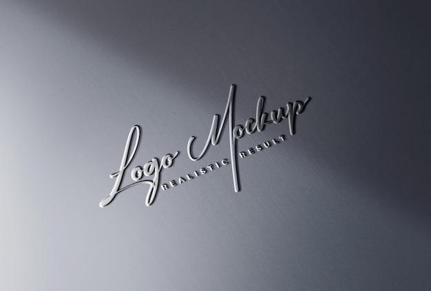 Логотип mockup реалистичный формованный логотип