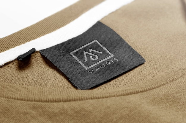 Logo mockup sweater label tag