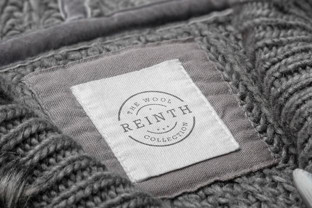 Этикетка свитера макета логотипа