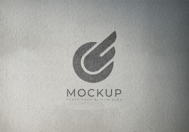Logo mockup on texture surface