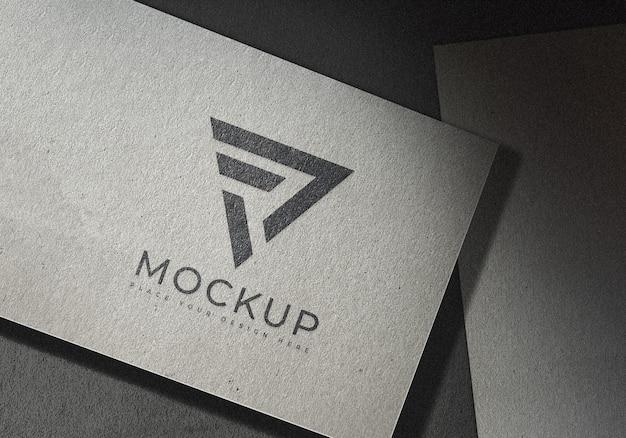 Logo mockup on textured art paper