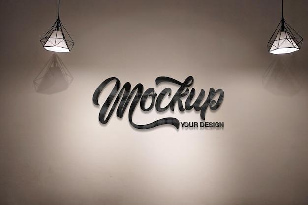Logo mockup on wall