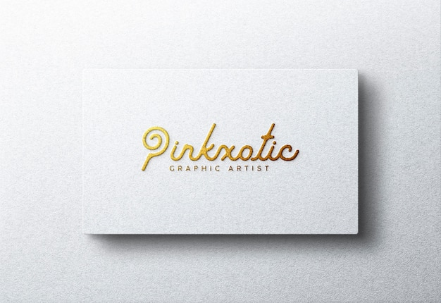 Logo mockup on white business card