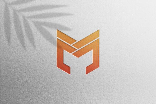 Logo mockup on white paper