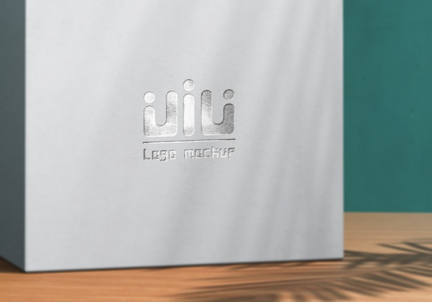Logo mockup on white product box