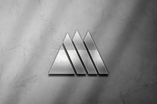 Logo mockup with 3d logo