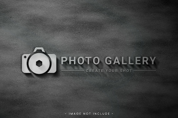 Logo mockup with asphalt background