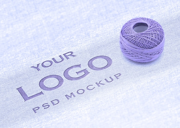 Logo mockup with cotton concept