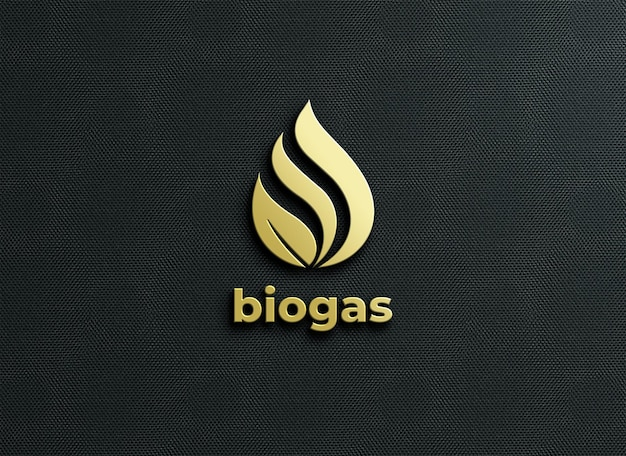 Logo mockup with embossed style rendering