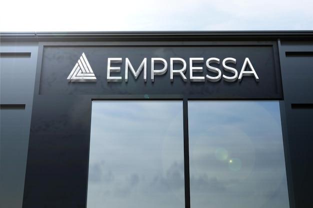 Logo mockup with facade