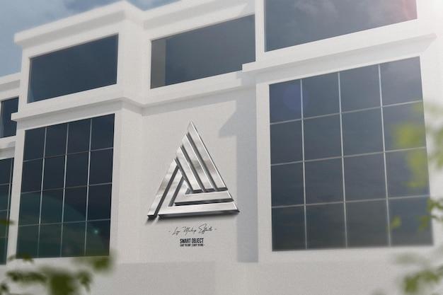 Макет логотипа с фасадом
