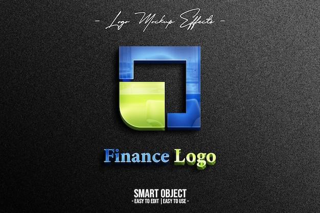 Макет логотипа с логотипом финансов