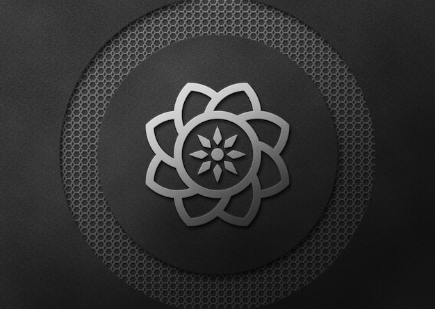 Мокап с логотипом и роскошным черным цветом