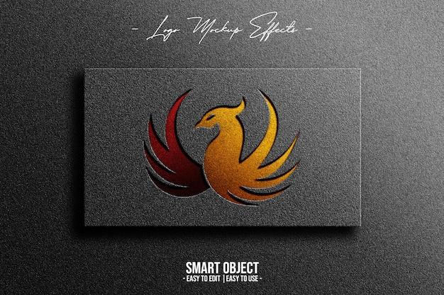 Макет логотипа с фениксом