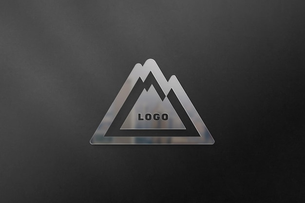 Logo mockup with reflection on wall