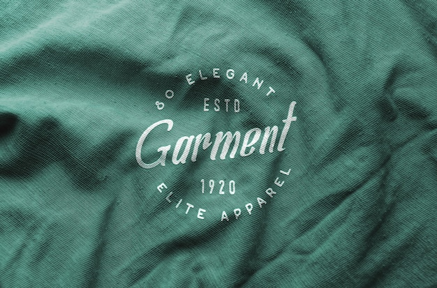 Logo mockup wrinkled cloth