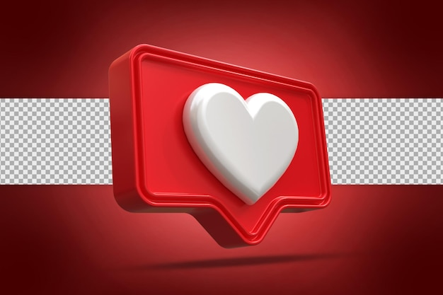 3d 렌더링에서 심장 버튼의 로고