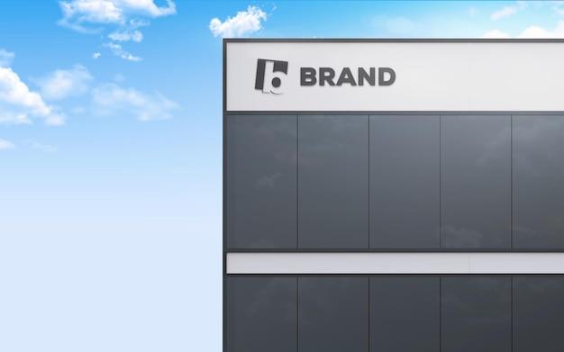 Логотип на макете здания