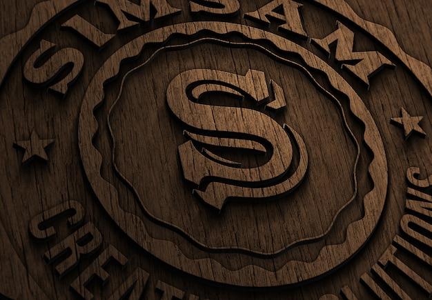 로고 또는 텍스트 클로즈업 프리젠 테이션 모형