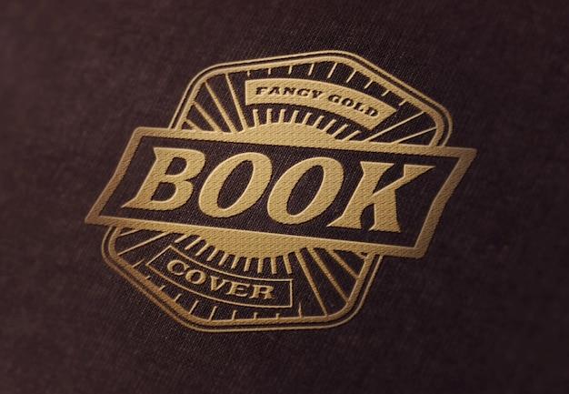 ロゴまたはテキストのモックアップテンプレート-豪華なブックカバー