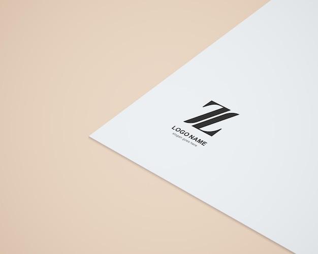 Logo in paper mockup design