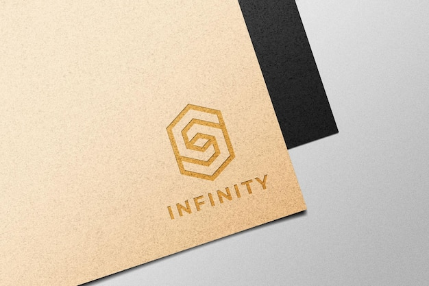 Logo on paper mockup