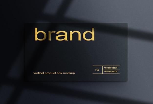 Макет таблички с логотипом и эффектом тиснения
