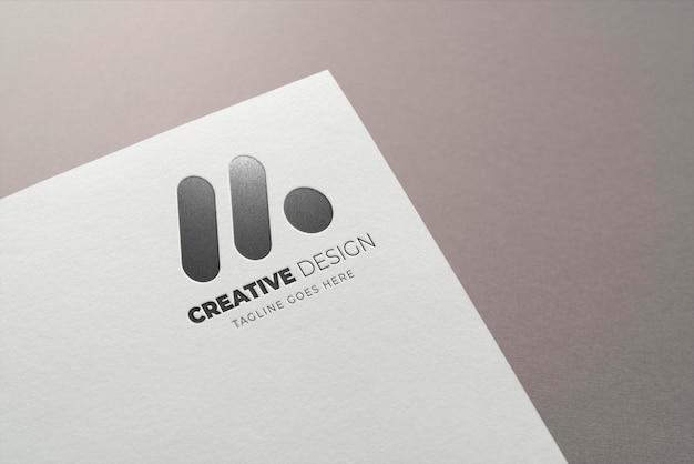 Logo presentation on paper texture