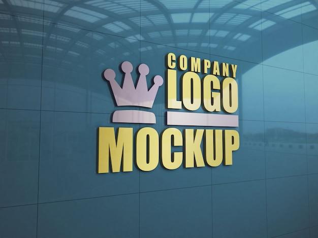 Логотип вход настенный макет