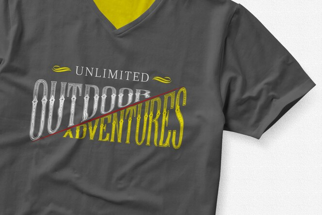 Logo on t-shirt mock up