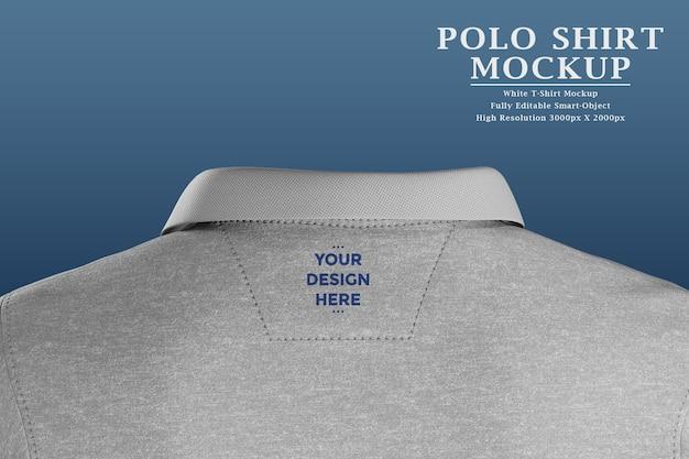 Logo tag on back of polo t-shirt