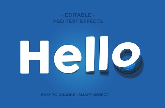 Текстовый макет логотипа psd