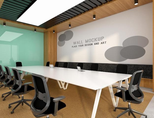 Макет стены с логотипом в конференц-зале