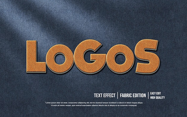 Logos 3d text style effect template
