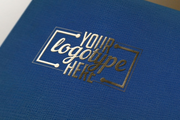 Logotype template on blue book